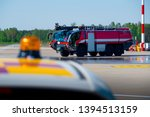 red airport fire engine truck... | Shutterstock . vector #1394513159
