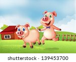 illustration of the two pigs at ... | Shutterstock .eps vector #139453700