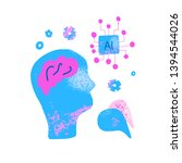 cognitive science concept. set... | Shutterstock .eps vector #1394544026