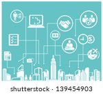 business system and management...   Shutterstock .eps vector #139454903