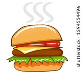 hamburger vector graphic... | Shutterstock .eps vector #1394554496