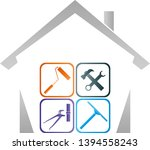 house and various tools logo | Shutterstock .eps vector #1394558243