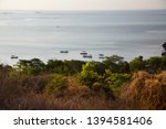 panoramic view from coastal... | Shutterstock . vector #1394581406