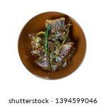 braised rabbit with belgian ale ...   Shutterstock . vector #1394599046