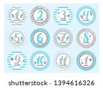 monthly baby stickers for... | Shutterstock .eps vector #1394616326