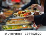 people group catering buffet... | Shutterstock . vector #139462820