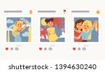 selfie girl vector beautiful... | Shutterstock .eps vector #1394630240