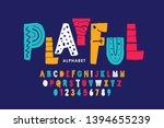 playful style font design ... | Shutterstock .eps vector #1394655239