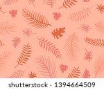 autumn theme seamless pattern...   Shutterstock .eps vector #1394664509