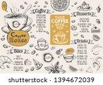 coffee house menu. restaurant... | Shutterstock . vector #1394672039
