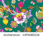 seamless pattern with... | Shutterstock .eps vector #1394680226