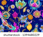 seamless pattern with... | Shutterstock .eps vector #1394680229