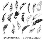 rustic decorative feathers.... | Shutterstock .eps vector #1394696030