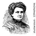 maria montessorri 1870 to 1952...   Shutterstock .eps vector #1394696246