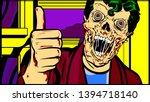 halloween bloody face skull... | Shutterstock .eps vector #1394718140