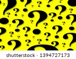 floating question marks of... | Shutterstock . vector #1394727173