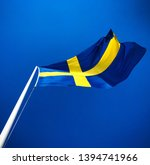 Swedish Flag On Sunny Day