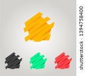 dynamic pentagon logo. volume... | Shutterstock .eps vector #1394758400
