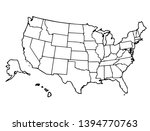 united states map detailed... | Shutterstock .eps vector #1394770763