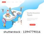 isometric flat vector landing... | Shutterstock .eps vector #1394779016