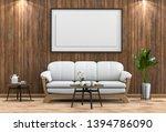 mock up poster frame in...   Shutterstock . vector #1394786090