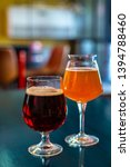 glasses of craft beer are on...   Shutterstock . vector #1394788460