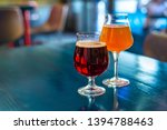 glasses of craft beer are on...   Shutterstock . vector #1394788463