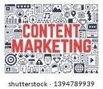 content marketing  ...   Shutterstock .eps vector #1394789939