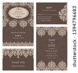 wedding invitation  with rsvp ... | Shutterstock .eps vector #1394796683