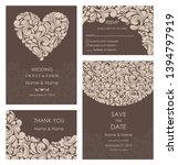 wedding invitation  with rsvp ... | Shutterstock .eps vector #1394797919