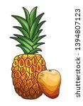 base fresh fruit nutrition... | Shutterstock .eps vector #1394807123