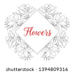 wedding invitation. frame with... | Shutterstock .eps vector #1394809316