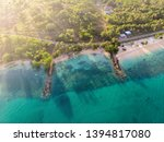 the ruins of the dock that was... | Shutterstock . vector #1394817080
