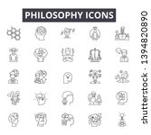 philosophy line icon signs. ...   Shutterstock .eps vector #1394820890