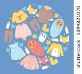 baby shop vector cartoon kids... | Shutterstock .eps vector #1394821070