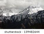 Snow Mountain Range  Leh Ladak...