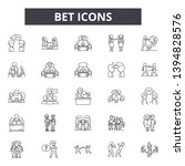 bet line line icon signs. ... | Shutterstock .eps vector #1394828576