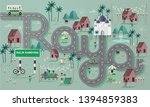 raya greetings template vector... | Shutterstock .eps vector #1394859383
