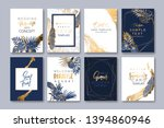 set of elegant brochure ... | Shutterstock .eps vector #1394860946