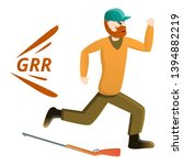 hunter running away icon....   Shutterstock .eps vector #1394882219