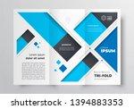 tri fold brochure design... | Shutterstock .eps vector #1394883353