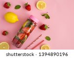 infused or detox water with... | Shutterstock . vector #1394890196