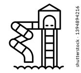 water spiral slide icon.... | Shutterstock .eps vector #1394894216