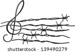 musical notes tearing barbed... | Shutterstock .eps vector #139490279