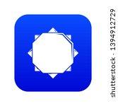 origami sun icon blue vector...