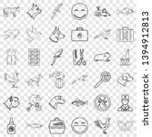 domestic animal icons set.... | Shutterstock .eps vector #1394912813