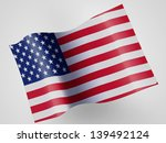the usa flag  on wavy plastic... | Shutterstock . vector #139492124