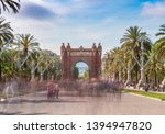 triumphal arc of barcelona full ... | Shutterstock . vector #1394947820