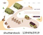 war game banner with military... | Shutterstock .eps vector #1394965919