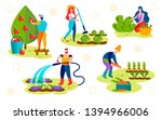 farmers caring of plants set.... | Shutterstock .eps vector #1394966006